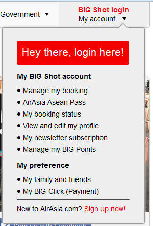 Air Asia Big Shot Login